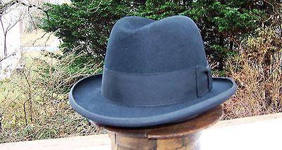 Stetson Sovereign Homburg Fedora hat (7 1/8 black)