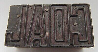 Printing Letterpress Printers Block Coal Block Letters