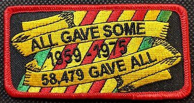 All Gave Some 58479 Gave All POW MIA KIA Embroidered Biker