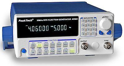 PeakTech 4060 MV DDS Function Generator 10µHz - 20MHz mit 10W Leistungsverstärer
