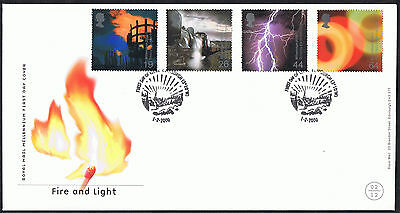 Fire and Light 2000 First Day Cover - SG2129 to SG2132 Edinburgh 3'10 Cancel