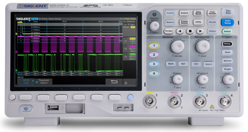 Siglent SDS1104X-U - 100 MHz / 4 Channel Digital Oscilloscope