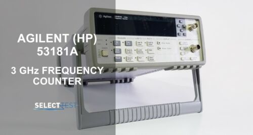 AGILENT 53181A FREQUENCY COUNTER WITH 3 GHz AND HIGH STABILITY OVEN OPTIONS (G)