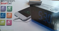 Emerson SmartSet Alarm Clock Radio with Bluetooth Speaker and Charging Station
