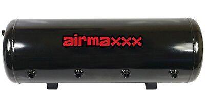 8 Gallon Steel Air Tank 9 Port Air Bag Suspension Train Horn Air Ride Kit