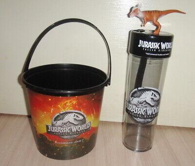 JURASSIC WORLD Fallen Kingdom Movie THAILAND Dinosaur Topper Cup & Bucket