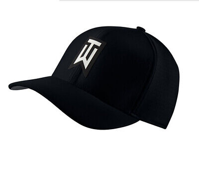 NEW Nike Tiger Woods AeroBill Classic 99 Perforated Black Fitted M/L Hat