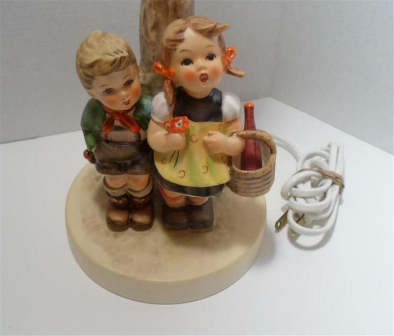 "Vintage Goebel Hummel Figurine Lamp #223 ""To Market"" West Germany Perfect"