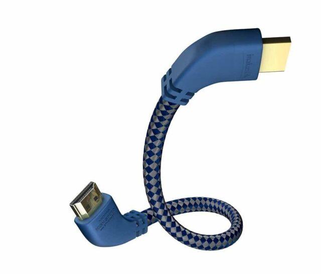 """inakustik Premium II HDMI Kabel mit Ethernet """"Huckepack"""" 90° Winkelstecker 5,0m"""