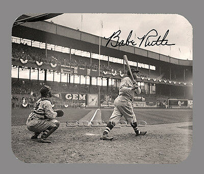 Item 2538 Babe Ruth At Bat New York Yankees Facsimile Autographed Mouse Pad