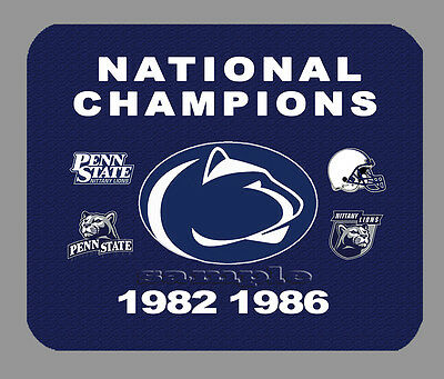 - Item#440 Penn State Championship Football Banner Mouse Pad