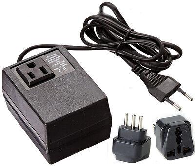 200 Watt Compact Voltage Converter Transformer + Italy Plug - 220v to 110v
