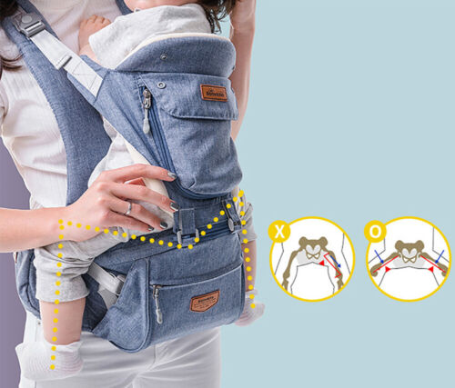 SUNVENO Ergonomic Baby Carrier Infant Baby Hip seat Waist Carrier Front Facing