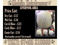 Mobile Hairdresser in Liverpool - BOOK NOW FOR XMAS and NEW YEAR!