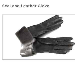 Seal Skin Leather Gloves