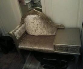 STUNNING FRENCH LOUIS STYLE CHAISE) TELEPHONE SEAT