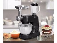 1000w Black Stand Mixer with Blender and Mincer