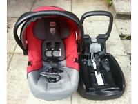 Britax infant car seat and a base