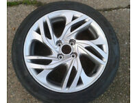"1 X GENUINE 2011-2016 CITROEN C4 MK2 17"" ALLOY WHEEL & 225/45/17 TYRE 9667802677"