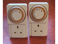 SECURITY 2 electric timers for lamps, blankets etc