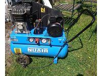 Nuair 50 litre air compressor. 2 hp