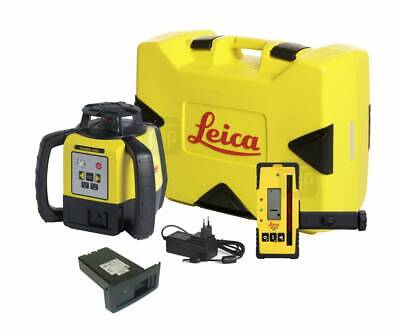 Leica Rugby 840 Laser With Optional Rod Eye180g Li-ion Battery For Surveying