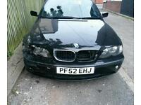 Bmw 318i spares or repair unrecorded
