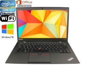 Lenovo ThinkPad ,i7 2.1ghz ,8GB RAM,120GB SSD ,Windows 10 Pro 64bit,webcam