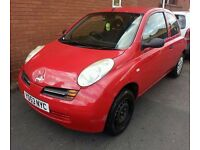 NISSAN MICRA 1.3 PETROL LOW MILAGE IDEAL 1ST CAR LONG MOT READY TO GO.