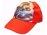Official Marvel Avengers Red Unisex Children's Baseball Cap Hat.