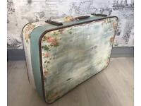 Retro style storage / hand finished suitcase