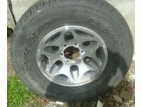 "Mitsubishi l200 warrior 16"" alloy wheel wheels and tyre x1"