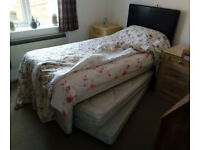 Single divan bed with guest bed under - FREE