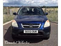 Honda Cr-V ( CRV ) 2.0 SE Sport 4x4, Navy Blue met side steps spoiler alloys serviced & 12mths mot