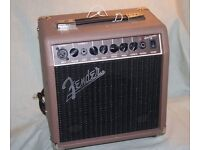 FENDER ACOUSTASONIC 15 ELECTRO-ACOUSTIC AMPLIFIER - NEARLY NEW - WITH XTRA EFFECTS ETC. - EXCELLENT