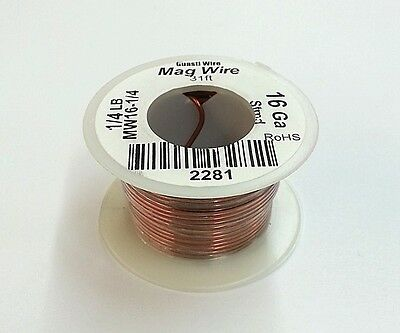 New 16 Gauge Insulated Magnet Wire 14 Pound Roll 31 Approx. Length 16awg