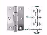 76mm Ball bearing door hinges