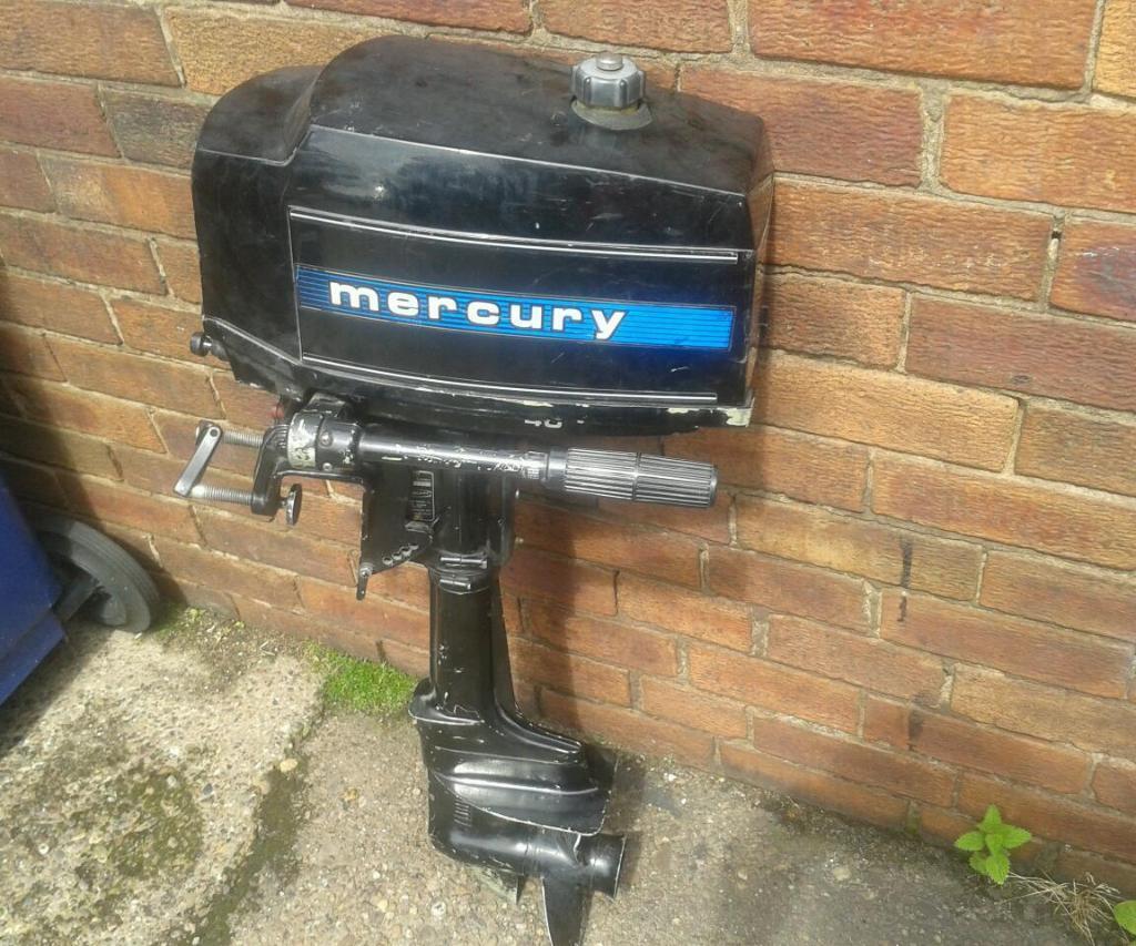 Mercury 40 Gnat Ml 4hp 2 Stroke 2 Cylinder Outboard Boat