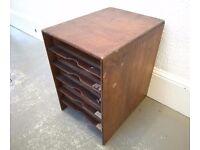 Vintage Wooden Letter Filing Cabinet Storage Organiser