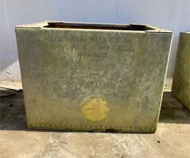 Rustic metal container/garden planter
