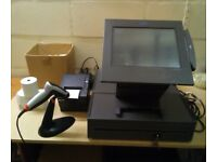"IBM Sure POS 500 Complete Till System Touchscreen Printer Scanner 15"" Screen Cash Drawer Shop Retail"