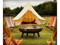 3m, 4m, 5m, 6m, 7m & 8m Cotton Canvas Bell Tent with Zipped in Groundsheet - BRAND NEW