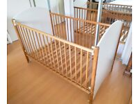 John Lewis Baby Cot Cotbed Crib - Coverts to Toddler Child Kid Bed Solid Beech Wood Wooden Furniture