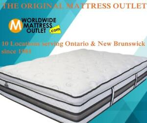 Brand New CANADIAN made Mattresses in Windsor.