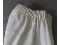 Cream full length fully lined curtains -John Lewis