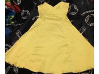Stunning yellow West One dress 50's style boned 12 - 14