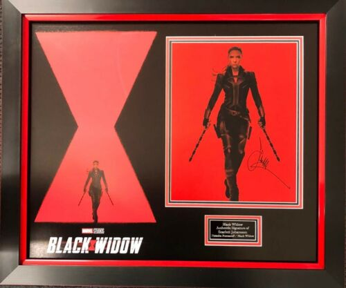 Scarlett Johansson Signed 11X14 Framed Photo Black Widow Avengers AFTAL COA (B)