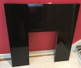 Polished Black Granite Stone Fire Surround & Hearth - 20mm Thick !