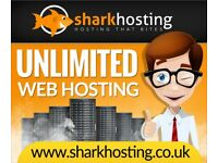 SharkHosting UNLIMITED Website Web Hosting Host Your Website From £2.45 a Year UK Web Host