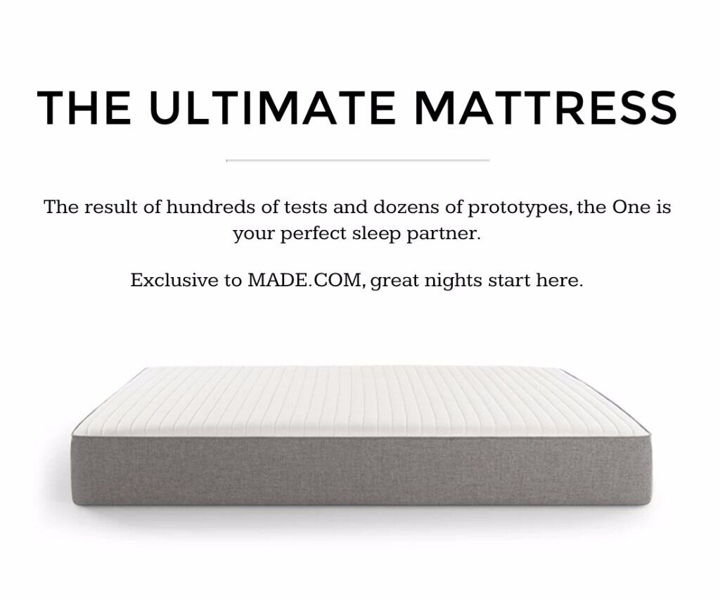 The One By Made, Super King Mattress - Brand New Still Boxed, RRP £699